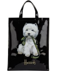 Harrods Medium Westie Shopper Bag - Black
