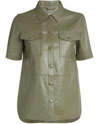 Stand Studio Danna Leather Shirt - Green