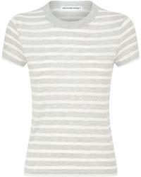 Alexander Wang Stripe Boy T-shirt - Gray