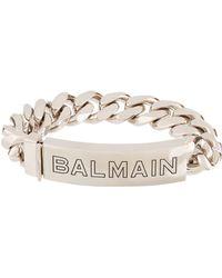 Balmain Logo Chain Bracelet - Metallic