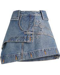 Alexander Wang Deconstructed Denim Skirt - Blue