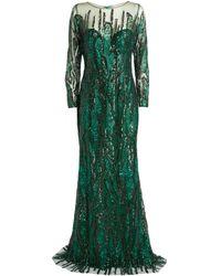 Jovani Embellished Gown - Green