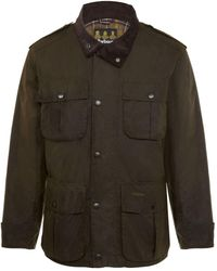 ed6eb5417d1b2 Barbour Trooper Wax Jacket in Gray for Men - Lyst