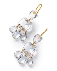 Baccarat Sterling Silver And Crystal Clear 3 Tier Marie-hélène De Taillac Earrings - Multicolour