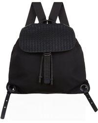 Bottega Veneta | Leather Intrecciato Backpack | Lyst