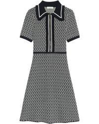 Sandro Knitted Zip-up Dress - Black