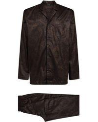 Hanro Baroque Print Pyjama Set - Black