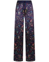 Paloma Blue - Bluebell Silk Trousers - Lyst