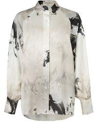 AllSaints Horse Print Oana Epoto Shirt - Multicolor
