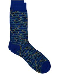 Pantherella - Egyptian Cotton Patterned Socks - Lyst