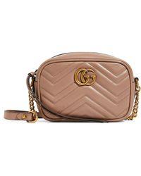 Gucci Mini Leather Marmont Matelassé Cross-body Bag - Multicolor