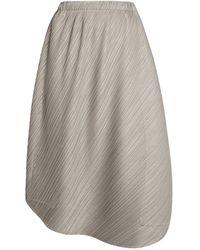 Pleats Please Issey Miyake Pleated Midi Skirt - Gray