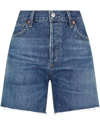 Citizens of Humanity Bailey Denim Shorts - Blue