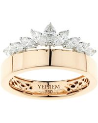 YEPREM - Rose Gold Crown Ring - Lyst