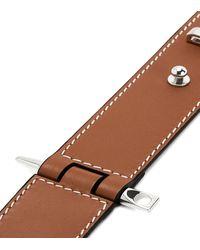 Loewe Leather Gate Bracelet - Brown