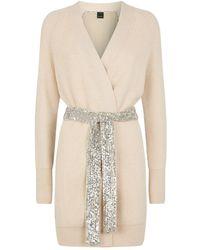 Pinko Sequin-embellished Cardigan - Gray