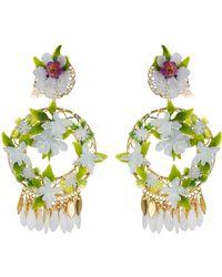 Mercedes Salazar - White Garden Clip On Earrings - Lyst