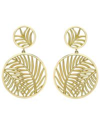 Theo Fennell - Palm Diamond Double Disc Earrings - Lyst