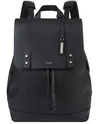 Saint Laurent Leather Drawstring Backpack - Black