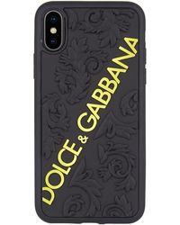 Dolce & Gabbana - Baroque Logo Iphone X Case - Lyst