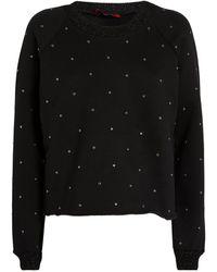 MAX&Co. Stud-embellished Sweatshirt - Black
