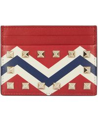 Valentino - Chevron Rockstud Card Holder - Lyst