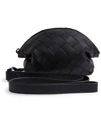Bottega Veneta Leather Intrecciato Pouch - Black