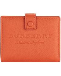Burberry - Lakeside Logo Embossed Wallet - Lyst