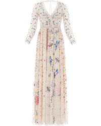 Needle & Thread Elements Embroidered Gown - Multicolour