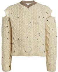 Bottega Veneta Wool Aran Sweater - Gray
