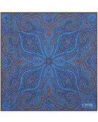 Corneliani - Paisley Cotton Pocket Square - Lyst