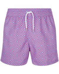 Frescobol Carioca - Diamond Print Swim Shorts - Lyst