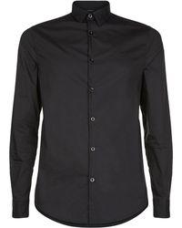 Armani Jeans - Cotton Collar Shirt - Lyst