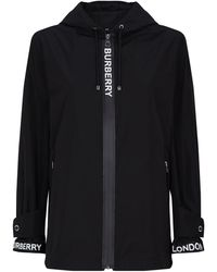 Burberry - Econyl Logo Tape Hooded Jacket - Lyst