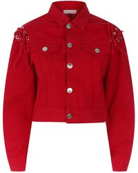 Sandro - Lace Up Detail Jacket - Lyst