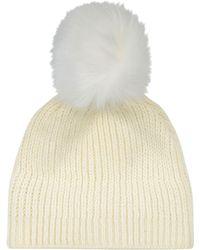 Sandro Pom Pom Hat - Natural