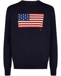 Polo Ralph Lauren American Flag Sweater - Blue