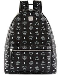 MCM | Medium Stark Backpack, White, One Size | Lyst