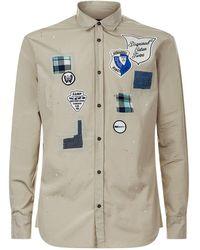 DSquared² - Long Sleeve Badge Shirt - Lyst