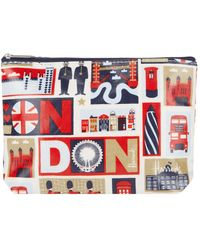 Harrods Iconic London Travel Pouch - Red