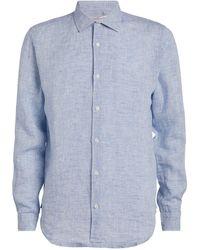 Orlebar Brown Linen Giles Shirt - Blue