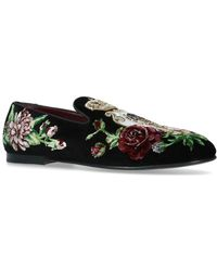 Dolce & Gabbana - Young Pope Floral Slippers - Lyst