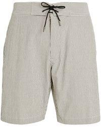 Sease Pinstripe Sunset Shorts - Grey