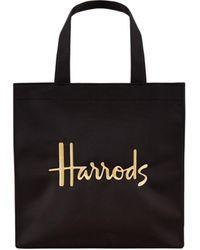 Harrods Small Logo Shopper Bag - Black