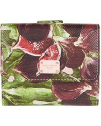 Dolce & Gabbana - Fig French Flap Wallet - Lyst
