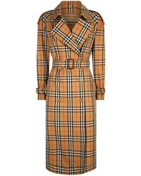 Burberry - Eastheath Check Trench Coat - Lyst