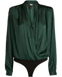 PAIGE Sevilla Wrap-around Bodysuit - Green