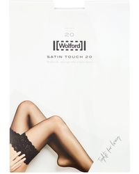 Wolford Satin Touch 20 Lace Knee-high Stockings - White