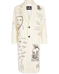 Haculla Printed Overcoat - Natural