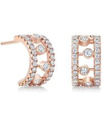 De Beers - Rose Gold And Diamond Dewdrop Earrings - Lyst